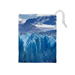 Upsala Glacier Drawstring Pouches (medium)  by trendistuff
