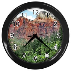 Upper Emerald Trail Wall Clocks (black) by trendistuff