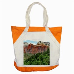 Upper Emerald Trail Accent Tote Bag  by trendistuff