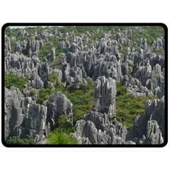 Stone Forest 1 Double Sided Fleece Blanket (large)  by trendistuff
