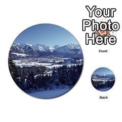 Snowy Mountains Multi Purpose Cards (round)  by trendistuff
