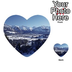 Snowy Mountains Multi Purpose Cards (heart)