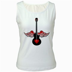 Flying Heart Guitar Women s Tank Top