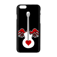 Flying Heart Guitar Apple Iphone 6/6s Black Enamel Case