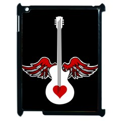 Flying Heart Guitar Apple Ipad 2 Case (black) by waywardmuse