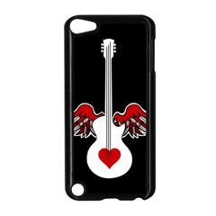 Flying Heart Guitar Apple Ipod Touch 5 Case (black) by waywardmuse