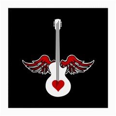 Flying Heart Guitar Medium Glasses Cloth (2 Sides) by waywardmuse