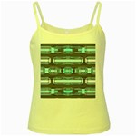 Modern Pattern Factory 01 Yellow Spaghetti Tanks