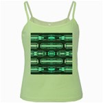 Modern Pattern Factory 01 Green Spaghetti Tanks