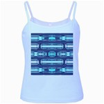 Modern Pattern Factory 01 Baby Blue Spaghetti Tanks