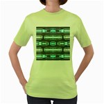 Modern Pattern Factory 01 Women s Green T-Shirt