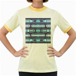 Modern Pattern Factory 01 Women s Fitted Ringer T-Shirts