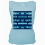 Modern Pattern Factory 01 Women s Baby Blue Tank Tops