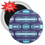 Modern Pattern Factory 01 3  Magnets (100 pack)