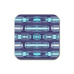 Modern Pattern Factory 01 Rubber Square Coaster (4 pack)