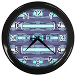 Modern Pattern Factory 01 Wall Clocks (Black)