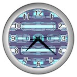 Modern Pattern Factory 01 Wall Clocks (Silver)