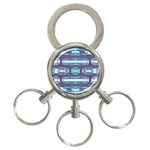 Modern Pattern Factory 01 3-Ring Key Chains