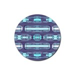 Modern Pattern Factory 01 Rubber Coaster (Round)