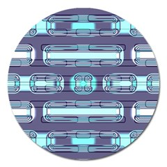 Modern Pattern Factory 01 Magnet 5  (round) by MoreColorsinLife