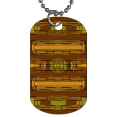 Modern Pattern Factory 01b Dog Tag (two Sides) by MoreColorsinLife