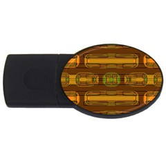 Modern Pattern Factory 01b Usb Flash Drive Oval (2 Gb)  by MoreColorsinLife