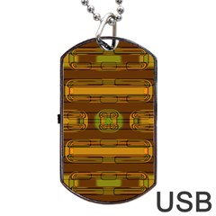 Modern Pattern Factory 01b Dog Tag Usb Flash (one Side) by MoreColorsinLife