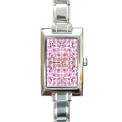 Modern Pattern Factory 01 Rectangle Italian Charm Watches by MoreColorsinLife