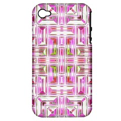 Modern Pattern Factory 01 Apple Iphone 4/4s Hardshell Case (pc+silicone) by MoreColorsinLife