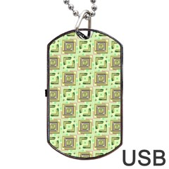 Modern Pattern Factory 04 Dog Tag USB Flash (Two Sides)  by MoreColorsinLife