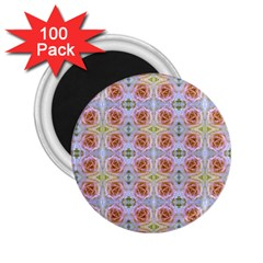 Pink Light Blue Pastel Flowers 2 25  Magnets (100 Pack)  by Costasonlineshop