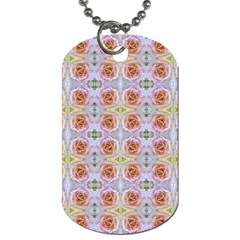 Pink Light Blue Pastel Flowers Dog Tag (one Side) by Costasonlineshop
