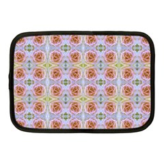 Pink Light Blue Pastel Flowers Netbook Case (medium)