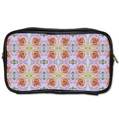 Pink Light Blue Pastel Flowers Toiletries Bags 2 Side by Costasonlineshop