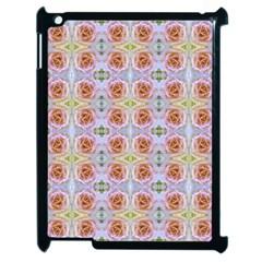 Pink Light Blue Pastel Flowers Apple Ipad 2 Case (black) by Costasonlineshop