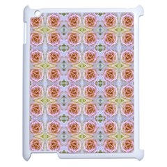 Pink Light Blue Pastel Flowers Apple Ipad 2 Case (white) by Costasonlineshop