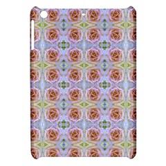 Pink Light Blue Pastel Flowers Apple Ipad Mini Hardshell Case by Costasonlineshop