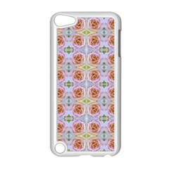 Pink Light Blue Pastel Flowers Apple Ipod Touch 5 Case (white)