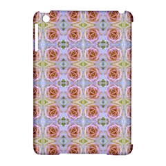 Pink Light Blue Pastel Flowers Apple Ipad Mini Hardshell Case (compatible With Smart Cover)