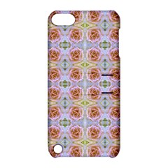 Pink Light Blue Pastel Flowers Apple Ipod Touch 5 Hardshell Case With Stand by Costasonlineshop