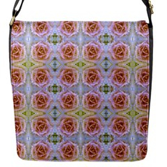 Pink Light Blue Pastel Flowers Flap Messenger Bag (s)