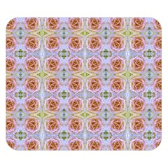 Pink Light Blue Pastel Flowers Double Sided Flano Blanket (small)  by Costasonlineshop