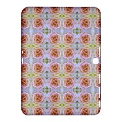 Pink Light Blue Pastel Flowers Samsung Galaxy Tab 4 (10 1 ) Hardshell Case  by Costasonlineshop