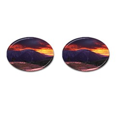 San Gabriel Mountain Sunset Cufflinks (oval) by trendistuff