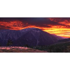 San Gabriel Mountain Sunset You Are Invited 3d Greeting Card (8x4)  by trendistuff