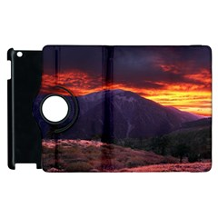 San Gabriel Mountain Sunset Apple Ipad 3/4 Flip 360 Case by trendistuff