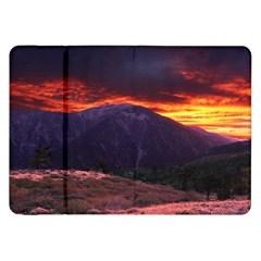 San Gabriel Mountain Sunset Samsung Galaxy Tab 8 9  P7300 Flip Case by trendistuff