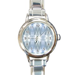 Ice Crystals Abstract Pattern Round Italian Charm Watches by Costasonlineshop
