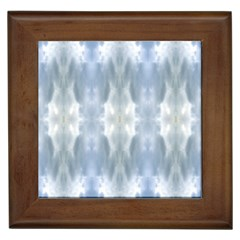 Ice Crystals Abstract Pattern Framed Tiles