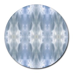 Ice Crystals Abstract Pattern Round Mousepads by Costasonlineshop